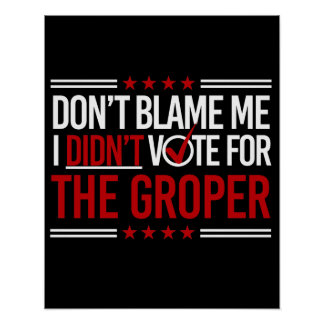 Don't Blame Me I Didn't Vote for The Groper -- Ant Poster