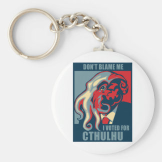 Don't Blame Me, I voted for Cthulhu Basic Round Button Keychain