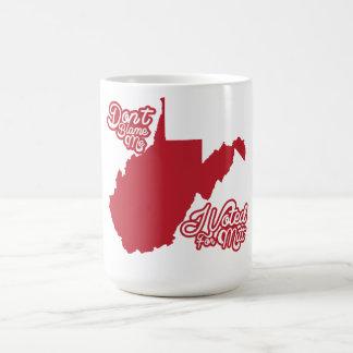 Don't Blame Me, I Voted For Mitt Romney WV mug