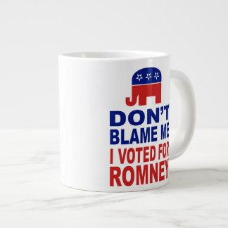 Don't Blame Me I Voted For Romney Large Coffee Mug