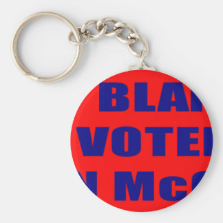 Don't Blame Me I Voted McCain Basic Round Button Keychain