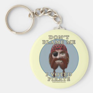 Don't Blame Me, I Voted Pirate Basic Round Button Keychain