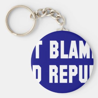 Don't Blame Me I Voted Republican Basic Round Button Keychain