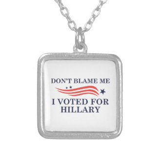 Don't Blame Me Silver Plated Necklace