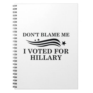 Don't Blame Me Spiral Notebook