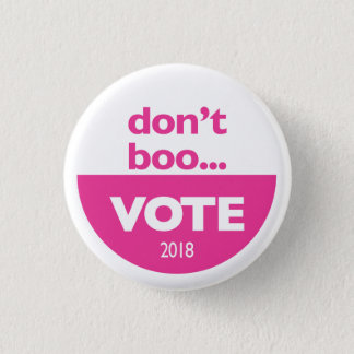Don't Boo...VOTE button in pink
