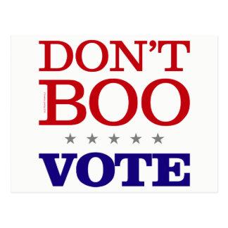 Don't Boo Vote Postcard