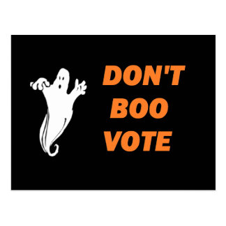 Don't Boo Vote! - Postcard