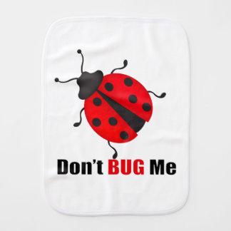 Don't bug me baby burp cloths