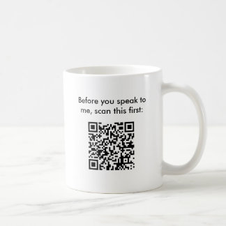 Don't Bug Me - Secret Message Bar Code Mug