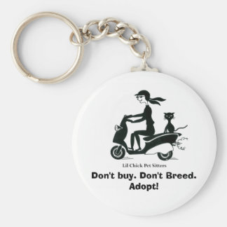 Don't buy. Don't Breed. Adopt! Keychain
