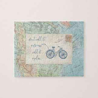 Don't Call It a Dream, Call It a Plan Quote Jigsaw Puzzle