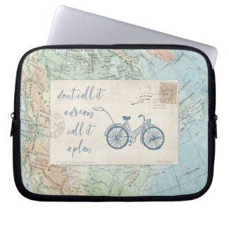 Don't Call It a Dream, Call It a Plan Quote Laptop Sleeve