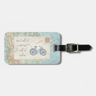 Don't Call It a Dream, Call It a Plan Quote Luggage Tag