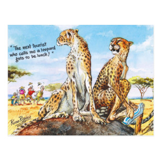 Don't call me leopard! postcard