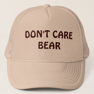 Don't Care Bear Trucker Hat