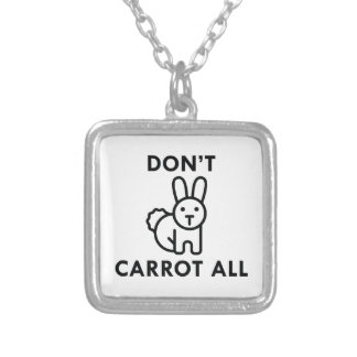 Don't Carrot All Silver Plated Necklace