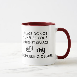 don't confuse your internet search engineer degree mug
