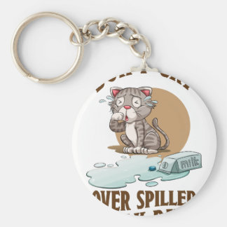Don't Cry Over Spilled Milk Day - Appreciation Day Basic Round Button Keychain