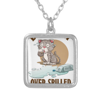 Don't Cry Over Spilled Milk Day - Appreciation Day Silver Plated Necklace