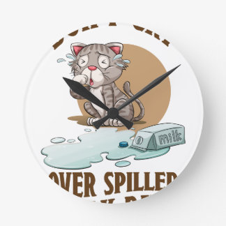 Don't Cry Over Spilled Milk Day - Appreciation Day Wall Clock