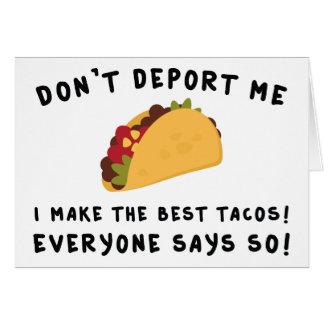 Don't Deport Me Card