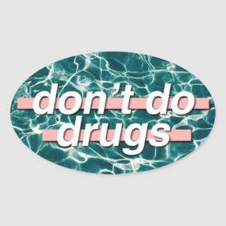 Don't Do Drugs Pop Art Oval Sticker