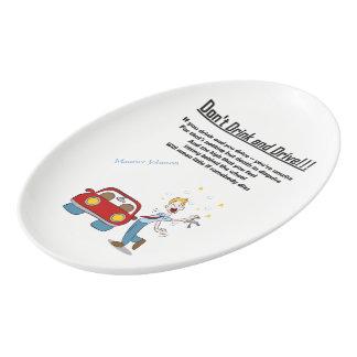 Don't Drink and Drive Porcelain Serving Platter