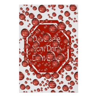 Dont Drink And Drive Red Poster