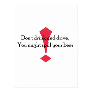Dont Drink Postcard