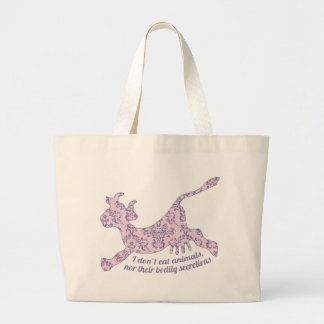 Don't Eat Animals Large Tote Bag