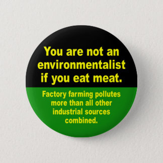 don't eat meat 2 inch round button