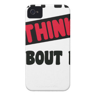 don't even think about it 2 gift t shirt Case-Mate iPhone 4 case
