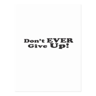 Don't Ever Give Up! Postcard