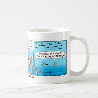 Don't fall out of the shark tree fun ug! coffee mug