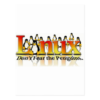 Don't Fear The Penguin Postcard