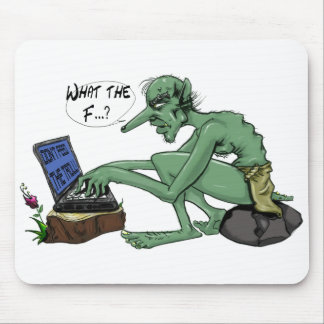 Don't feed the troll mouse pad