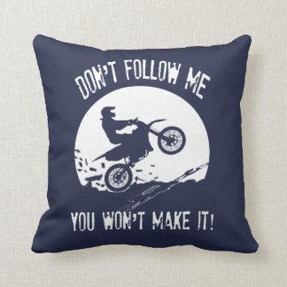 Don't follow me throw pillow