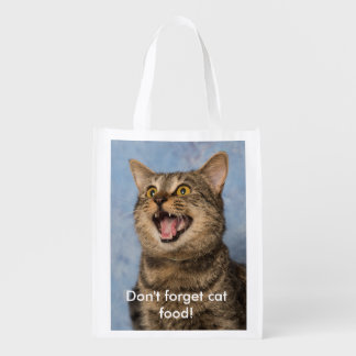 Don't Forget Cat Food Grocery Bag