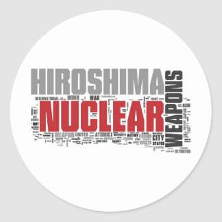 Don't forget Hiroshima Classic Round Sticker