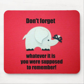 Don't forget... mouse pad