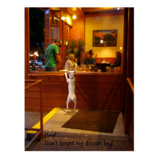 Don't Forget My Doggie Bag! Postcard