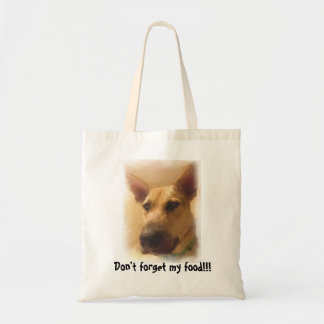 Don't Forget My Food | Cute German Shepherd Tote