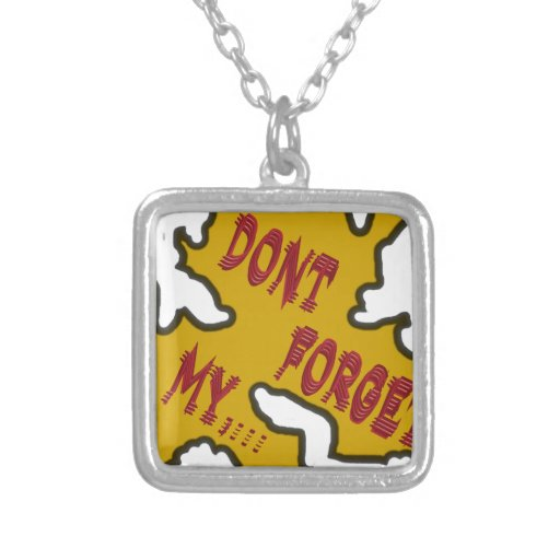 Dont forget my custom necklace