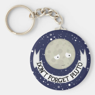 Don't forget Pluto Basic Round Button Keychain