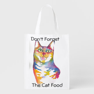 Don't forget the Cat food Grocery Bag