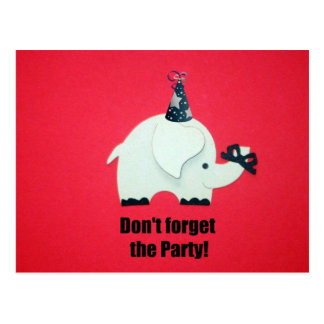 Don't forget the party! postcard