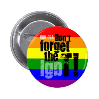 """Don't Forget the T!"" - Transgender Button"