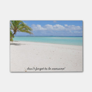 Don't Forget To Be Awesome! Beach Post-It Notes