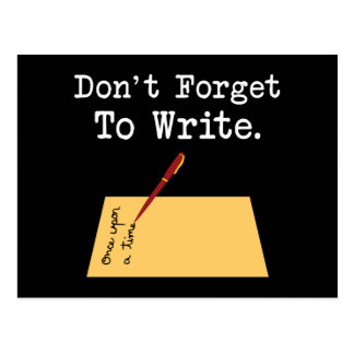 Don't Forget To Write Postcard